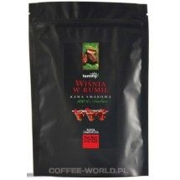 Kawa ziarnista smakowa Wiśnia w Rumie Tommy Cafe 250g