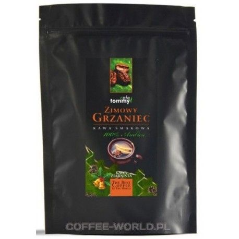 Kawa ziarnista smakowa Zimowy Grzaniec Tommy Cafe 250g