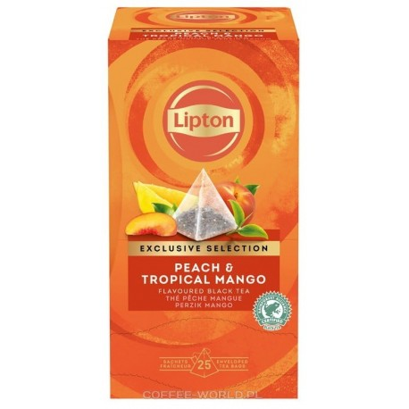Herbata Lipton Exclusive Selection Peach Mango 25 szt