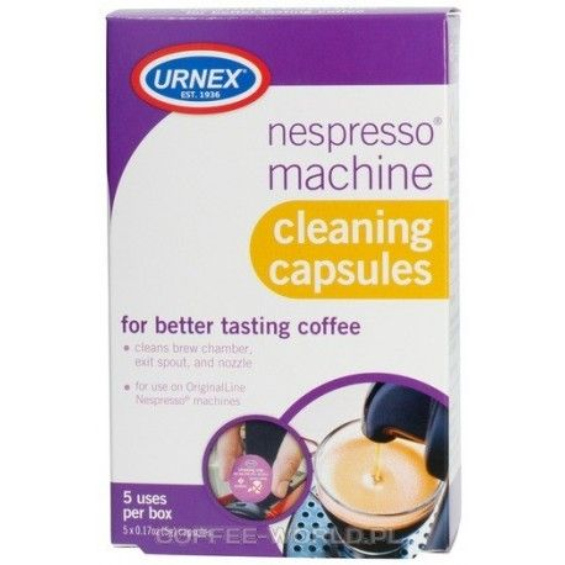 Kapsułki do czyszczenia Nespresso Urnex 5szt