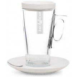Zestaw Richmont- szklanka Hot, spodek i wieczko