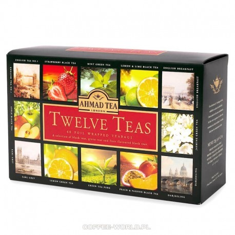 Zestaw herbat Ahmad Twelve Teas 12x5 torebek