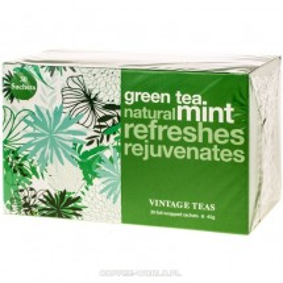 Vintage Teas Green Tea Mint zielona herbata miętowa torebki 30 szt.