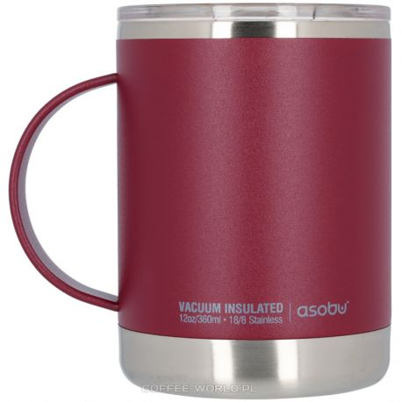 Kubek termiczny Asobu Ultimate Mug 360ml bordowy