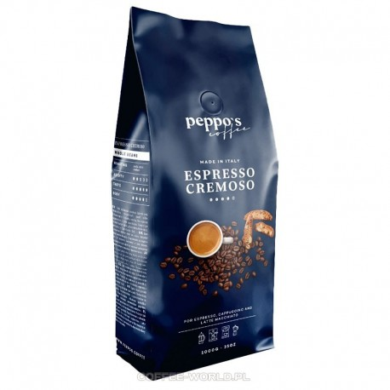 Kawa ziarnista PEPPO'S Espresso Cremoso 1kg