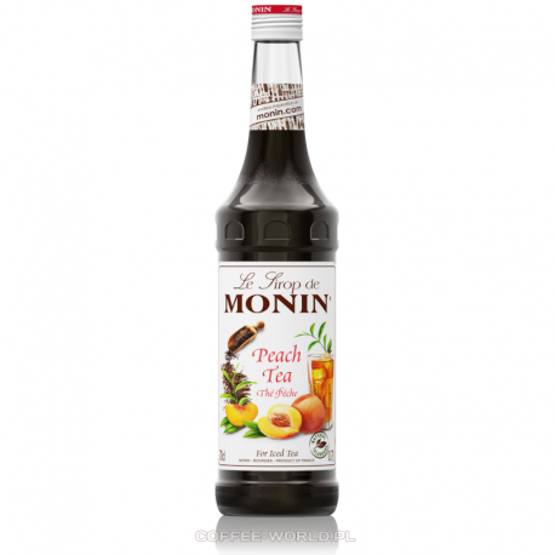 Monin Peach Tea - Syrop Herbata brzoskwiniowa 0,7L