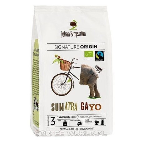Kawa ziarnista Johan & Nyström - Sumatra Gayo Mountain Fairtrade 250g